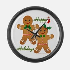 Gingerbread Man - Boy Girl Large Wall Clock