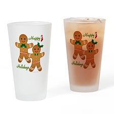 Gingerbread Man - Boy Girl Drinking Glass