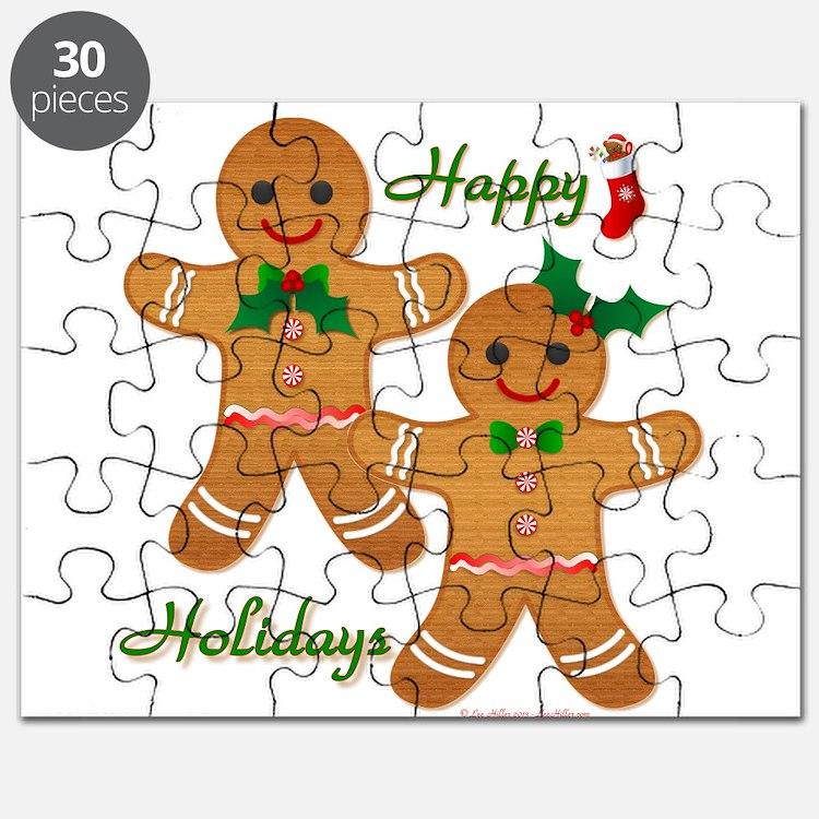 Gingerbread Man - Boy Girl Puzzle