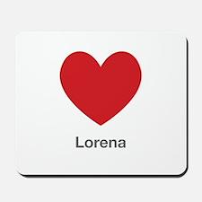 Lorena Big Heart Mousepad