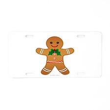 Gingerbread Man - Boy Aluminum License Plate