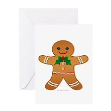 Gingerbread Man - Boy Greeting Card