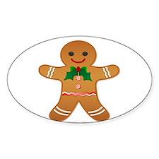 Gingerbread Man - Boy Decal