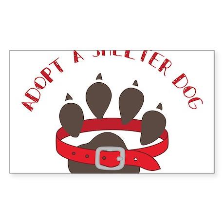 Adopt a Shelter Dog Sticker