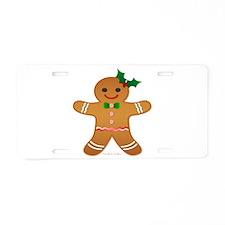 Gingerbread Man - Girl Aluminum License Plate