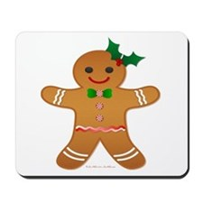 Gingerbread Man - Girl Mousepad
