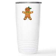 Gingerbread Man - Girl Travel Mug