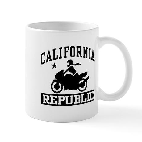California Republic female Biker Mug
