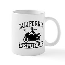 California Republic female Biker Small Mug