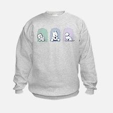 Pastel Westie Trio Sweatshirt