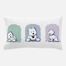 Pastel Westie Trio Pillow Case