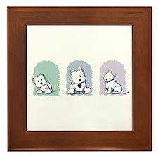 Pastel Westie Trio Framed Tile