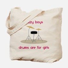 Drums Are For Girls Tote Bag