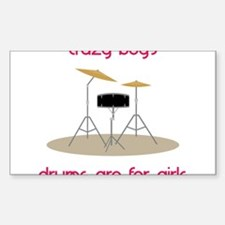 Drums Are For Girls Decal