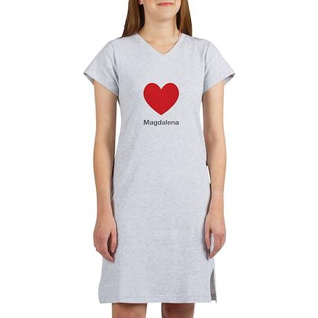 Magdalena Big Heart Women's Nightshirt