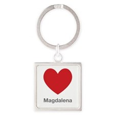 Magdalena Big Heart Square Keychain