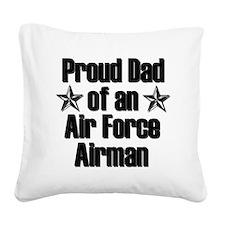 AF Proud Dad Square Canvas Pillow