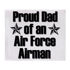 AF Proud Dad Throw Blanket