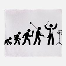 Music Conductor Throw Blanket