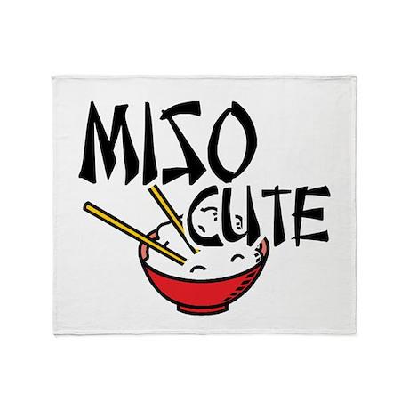 Miso Cute Throw Blanket