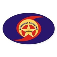 LAWRENCE CELESTINE-MEMORIAL Oval Decal