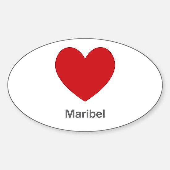 Maribel Big Heart Decal