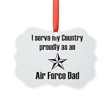 AF Dad Proudly Serve Ornament