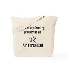 AF Dad Proudly Serve Tote Bag