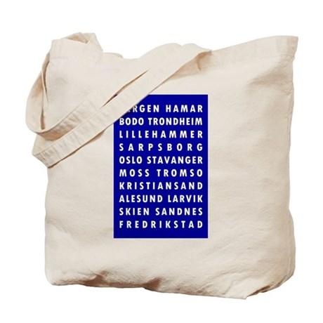 C Blue Norway Cities Tote Bag