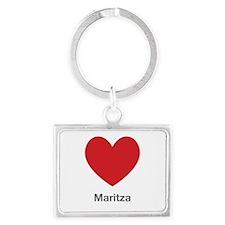Maritza Big Heart Landscape Keychain