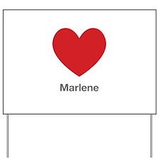 Marlene Big Heart Yard Sign