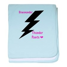 Downunder Thunder pants - pink baby blanket