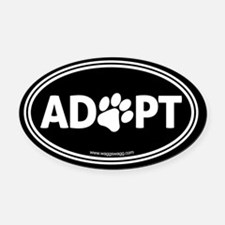 Adopt Oval Car Magnet