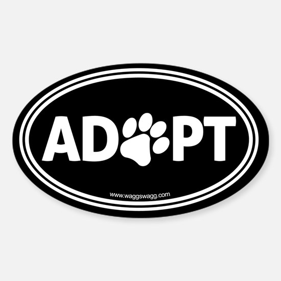 Adopt Sticker (Oval)