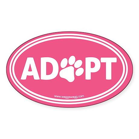 Adopt Sticker (Oval)