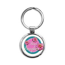 Best Daughter Round Keychain