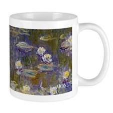Claude Monet waterlilies wraparound mug