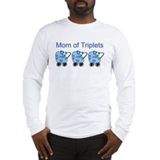 Mom of Triplets (Boys) Long Sleeve T-Shirt