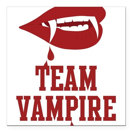 "Team Vampire Square Car Magnet 3"" x 3"""