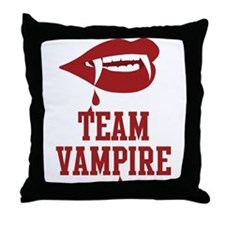 Team Vampire Throw Pillow