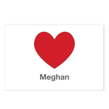 Meghan Big Heart Postcards (Package of 8)