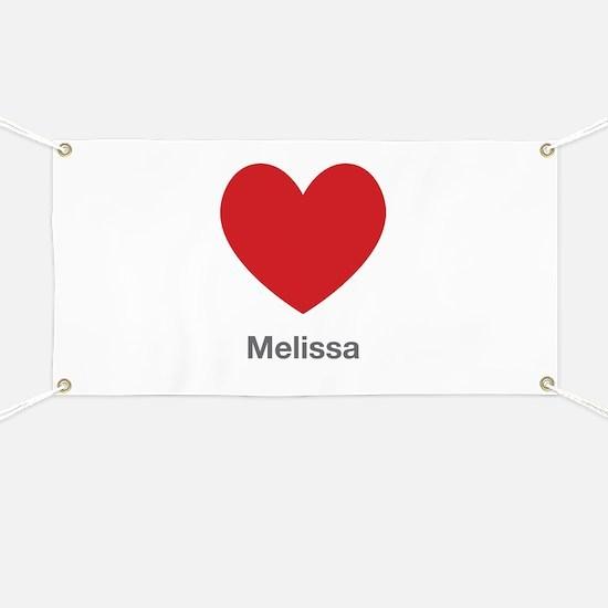 Melissa Big Heart Banner