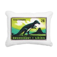 Trachodon Dinosaur Czech Matchbox Label Rectangula