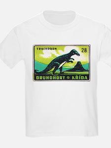 Trachodon Dinosaur Czech Matchbox Label T-Shirt