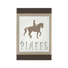 Piaffe Rider in Brown/Tan Rectangle Magnet