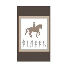 Piaffe Rider in Brown/Tan Rectangle Decal