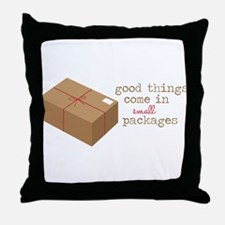 Small Packages Throw Pillow
