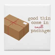 Small Packages Tile Coaster
