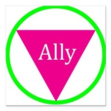"Ally Square Car Magnet 3"" x 3"""