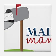 Mail Man Tile Coaster